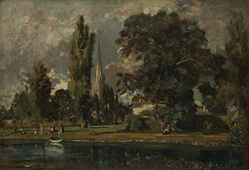 Das Museum Outlet-John Constable-Kathedrale von Salisbury und Leadenhall vom Fluss Avon-Leinwanddruck Online kaufen (101,6x 127cm)