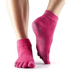 ToeSox Full Sock, Size- S, Color- Fuchsia
