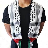 Unisexkleidung Palästina-Schal arabischen Shemagh Schal Wüste taktischen Modus wickeln palästinensischen Keffieh Hatta