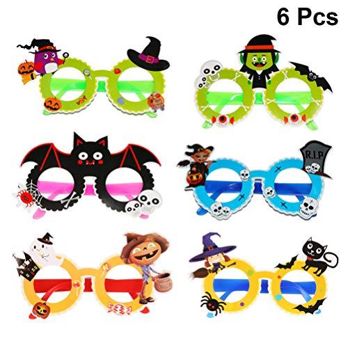 Toyvian Halloween Papier Brillen Cartoon Brille Partei gefallen Papier Foto Prop für Kinder 6 Paare (zufällige - Kostüm Für Paare Fotos