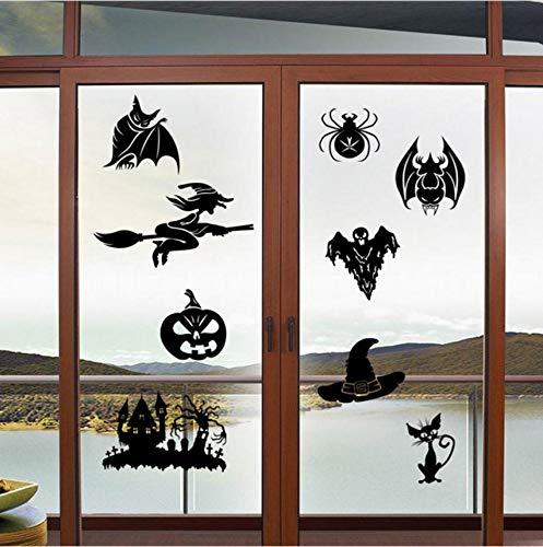 Zyzdsd Kreative Wohnkultur Happy Halloween Wandaufkleber Dark Castle Scary Kürbis Schädel Muster Für Festival Wandbild Kunst Wandtattoos