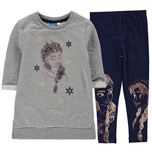 Frozen felpa leggings set bambini adolescenti, ragazze pantaloni maglione - grigio, 5-6 anni