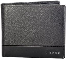 Cross Men's Genuine Leather Standard Credit Card Wallet (Black)