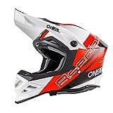 O'Neal 8Series MX Helm Nano Rot Schwarz Weiß Motocross Enduro Offroad Quad Cross, 0614-63, Größe L (59/60 cm)
