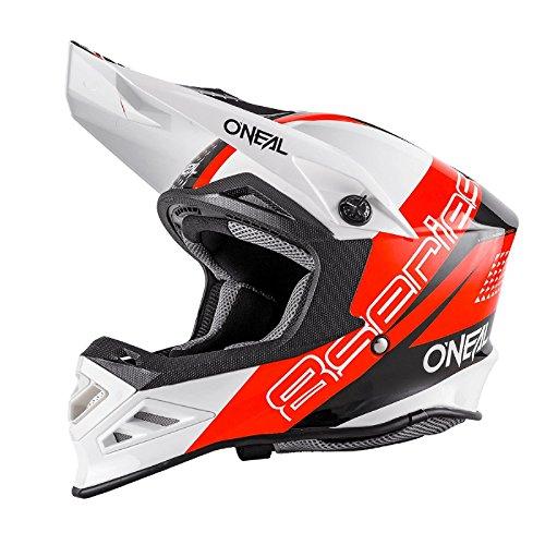 O\'Neal 8Series MX Helm Nano Rot Schwarz Weiß Motocross Enduro Offroad Quad Cross, 0614-63, Größe XL (61/62 cm)