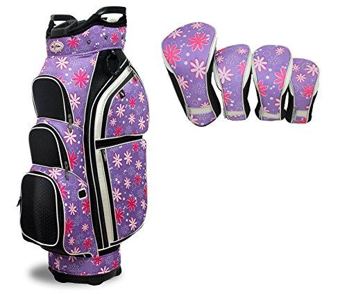 Tabu Fashions Allure Carry/leicht Cartbag Paket mit Club Bezüge (4Farben erhältlich), Allure, Petal Pusher -