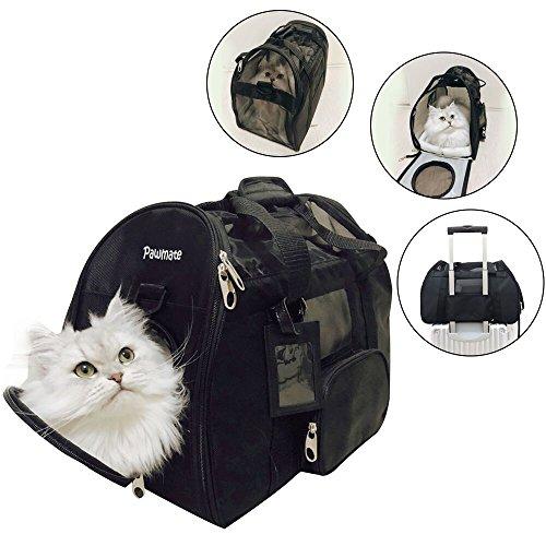 Bolsa gato viaje,bolsa gato transporte,bolsa gato expandible,bolsa gato coche jaulas,Transportín para animales domésticos, bolso a bandolera ergonómico para perros y gatos, bolsa plegable para viaje de tren y avión