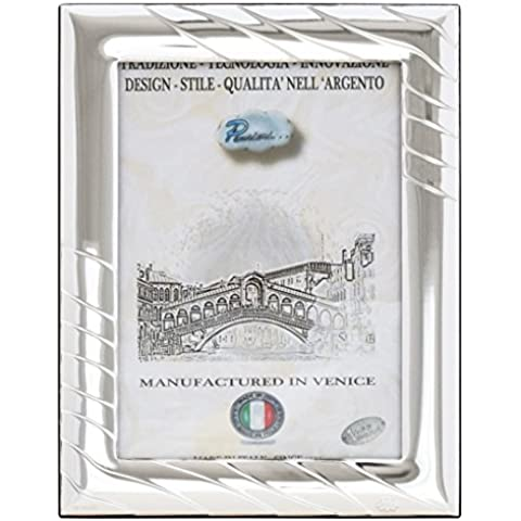 VELE L Cornice per Foto 13x18cm Portafoto Argento Artigianale Made in Italy