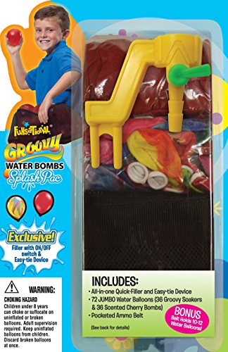 Pioneer National Latex Groovy Water Bombs Splash Pack, Assorted (Groovy Party Supplies)