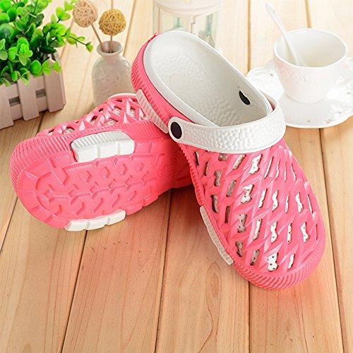 Eastlion EVA Paar Strand Garten Schuhe Sommer Mode Beiläufige halbe Hausschuhe für Liebhaber Weiblich Stil 3 Rot