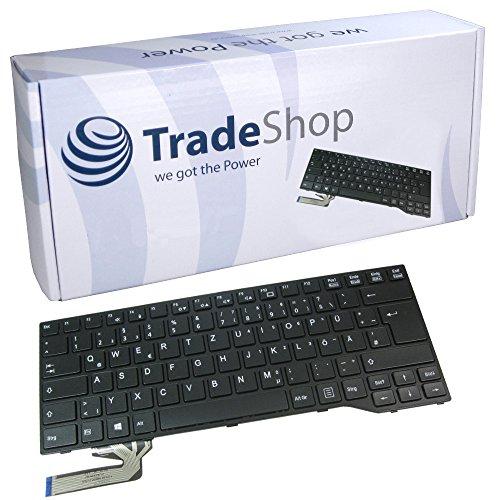 Original Laptop-Tastatur mit Rahmen Schwarz / Notebook Keyboard Ersatz Austausch Deutsch QWERTZ ersetzt Fujitsu Siemens MP-12S26003D85W MP-12S36D0JD85W FJM14B76003D85 F-032 FJM14B76003D85 U-102 für Fujitsu Siemens Lifebook E733 E734 E743 E744 E544 Serie (Deutsches Tastaturlayout) (Tastatur Rahmen)