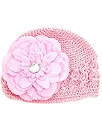 efc688d2fe3a8 Voberry Baby-Girl s Toddler Infant Crochet Beanie Hat Knitted Cap with  Peony Flower