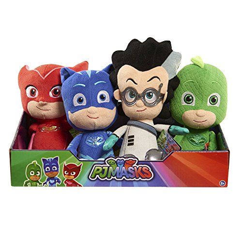 PJ Mask Soft Plush Bean Toys Gekko Owlette Catboy Romeo (4pcs Gekko Owlette Catboy Romeo)