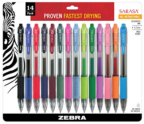 Sarasa Séchage rapide d'encre gel Stylo rétractable 12 pack Fashion Assorted