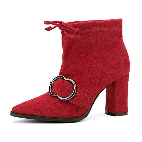 inverno ladies spessi in B per tacco Europeo FLYRCX e autunno Party scarpa Creative Personalità tacchi alti stile stivali wBXEE7Pxq
