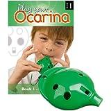 Englische Okarina, GRÜN, und das erste Buch: Play your Ocarina Book 1, als Set