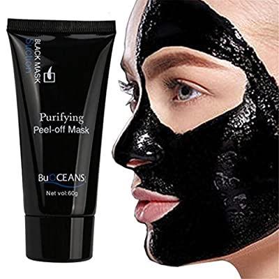KaloryWee Blackhead Remover Mask Deep Cleansing Black Mask Purifying Face Detox Mask For Nose Acn