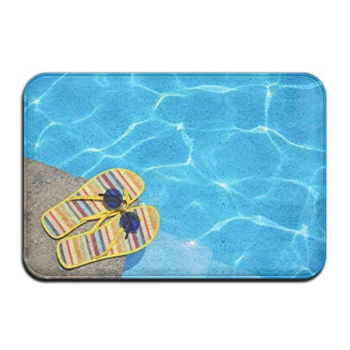 Klotr Fußabtreter,Badematte, Life Is Better At The Pool Theme Anti-slip Door Mat Home Decor Indoor Outdoor For Decor Decorative Kids Children Bedroom Entrance Doormat Rubber Backing 23.6 X 15.7 Inches