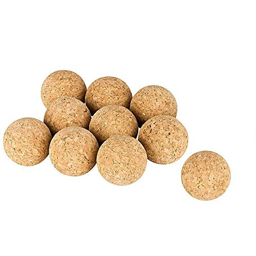 10 pcs. Cork Balls for Table Football | Tabletop Football | Natural Cork Balls | Ø 31 - 35 mm, very quietly, Set of 10 (35 mm (standard))