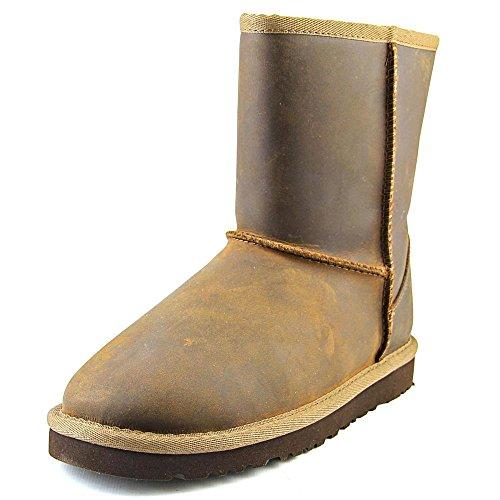 UGG Australia Classic Short Leather, Bottes Classiques Mixte enfant