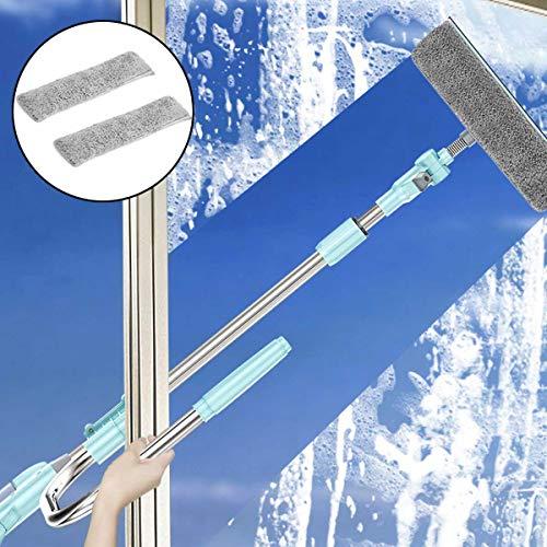 Profesional 2 En 1 Telescópico En Forma De U Limpiacristales Con 2 Microfibra Scrubber, Limpieza De...