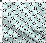 Fußball, Sport, Streifen Stoffe - Individuell Bedruckt von