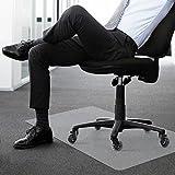 Antaprcis PE Bodenschutzmatte, Bodenschutz Bürostuhlunterlage für Hartböden Teppich, Rutschfeste Bodenmatte Schutzmatte Unterlegmatte für Bürostuhl Fitnessgeräte 75x120 cm, Weiß