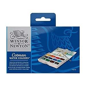 Winsor & Newton Cotman Set d'Aquarelle 12 Grands Godets
