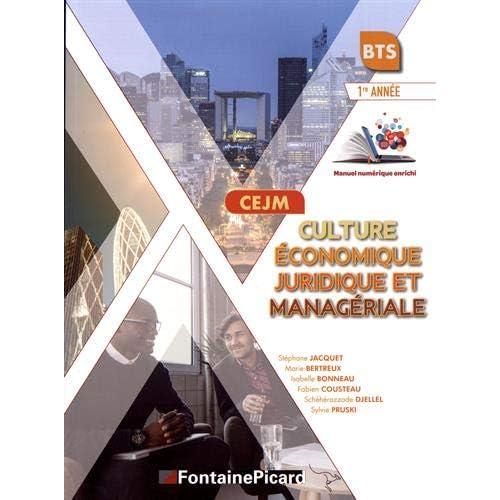 CEJM Culture économique, juridique et managériale BTS 1re année