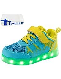 (Presente:pequeña toalla)Dorado EU 38, colores JUNGLEST® de Gold Zapatos moda 7 LED Hombre