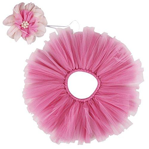kleidungsset (Rock+ Stirnband), Kostüm für neugeborene Mädchen, Pink, 3-4 Monate (Kostüme Ma)