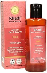 Khadi - Huile pour le visage et le corps à la rose