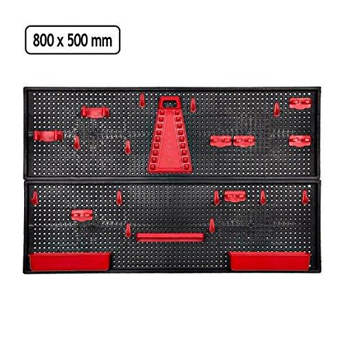 Werkzeugwand Halter rot Werkstatthalter Werkstattwand Werkzeuge aufhängen Modul -