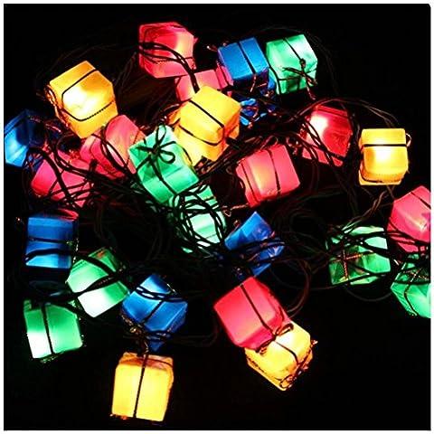 Malloom 3M 28 LED caliente cuerda blanca hada luz lámpara fiesta Navidad decoración