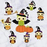 Wallpaper Halloween Pumpkin Bat Owl Decoration Children Cartoon Holiday Party Sticker