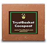 Trust Basket Cocopeat Block - Expands to 75 litres of Coco Peat Powder,Brown