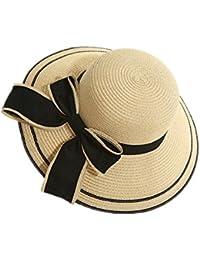 Fletion Libera pieghevole cappello di paglia Fraun grande tesa estate  cappello protezione solare cappello da sole estate… 087d833ebf28