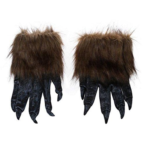 TOOGOO(R) 1 Paar Wolf Handschuhe Halloween Maske Tier Maske Set Werwolf Maskerade Wolf (Groesse: L, Farbe: (Maskerade Tier Masken)