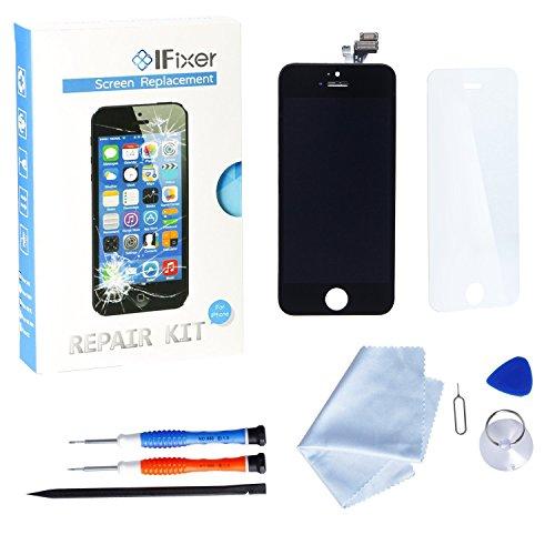 Ifixer display iphone 5 lcd schermo da sostituire screen replacement kit con vetro nero
