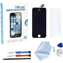 Ifixer Pantalla Táctil LCD Cristal Vidrio para iPhone 5 Display Templado Digitalizador-profesional de reparación incluye kit herramientas y manual de instrucciones color Negro