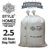 #5: Style Homez 2.5 Kg Premium Bean Bag Refill for Bean Bags