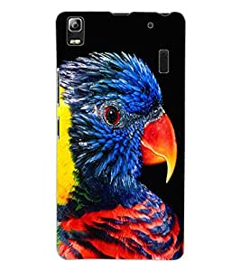 ColourCraft Beautiful Parrot Design Back Case Cover for LENOVO K3 NOTE