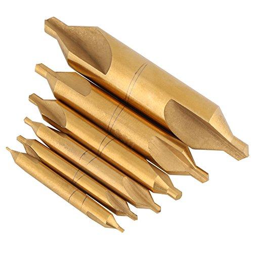 6HSS High Speed Stahl 1/1,5/2/2,5/3/5Center Bohrer Set kombiniert Kegelsenker High Speed Werkzeug