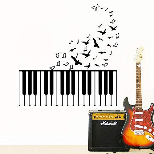 Klassische Musik Klavier Wandaufkleber für Kinder mädchen Schlafzimmer Dekor Abnehmbare Raumdekoration Wandkunst Aufkleber Vinyl wallstickers 43cx43cm (Musik Klassische Klavier Halloween Für)