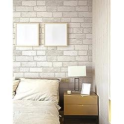 Carta da parati mattone l 39 effetto legno pietra a casa e for Carta parati impermeabile