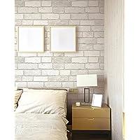 """Panel autoadhesivo con diseño de ladrillos para paredes, 50cm X 3m (19,6"""" X 118""""), 0,15mm, de PVC resistente al agua, ideal para cocinas, dormitorios, salones, cajones, etc, reposicionable"""