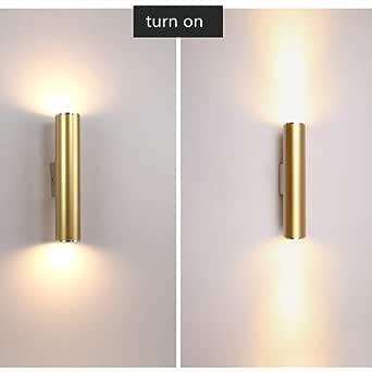 Bathroom Light Wall Lights Europe Led Creative Gold Wall Lamp Loft Bathroom Light Bar Kitchen Hotel Bedroom Corridor Light Free Shipping B Type Dia80x300mm Led5w Amazon Co Uk Lighting