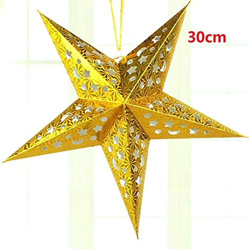 Christmas Ornaments - 1pc 30 60cm Diy Paper Stars Garland Star Decoration Christmas Ornaments Wedding Birthday Party - Silver Clearance Pittsburgh Dies Snowflake Outdoor Fillable Gingerbre -