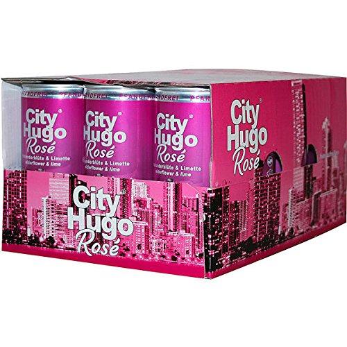 60 Dosen City Hugo Rose 6.9{95c229a136da348140bd7de075ee63e89dc9ea090a13a0fc03ae1bcbf5924a40} aromatisierter Cocktail Vol. 60 x 200ml
