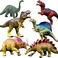 GuassLee OuMuaMua Dinosaur Figure Toys Plastic Dinosaur Set for Kids and Toddler Education, Including T-rex, Stegosaurus, Monoclonius, etc